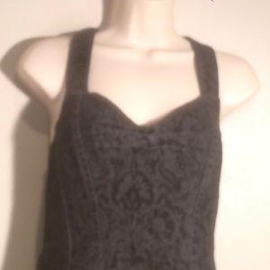 Betsey Johnson Dark Denim Dress Womens Size 8